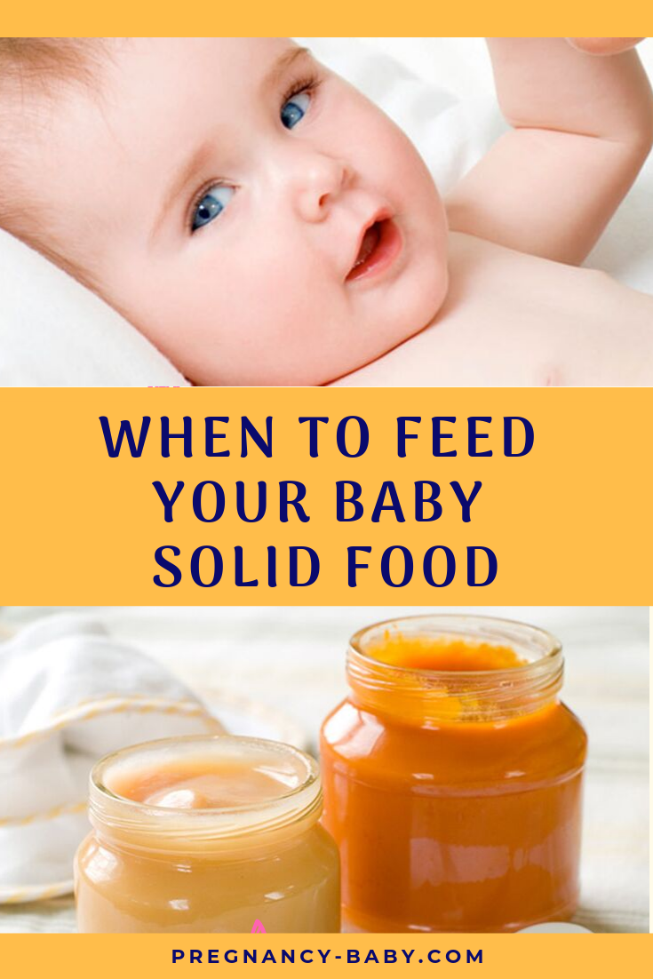 timeline for feeding baby solid food